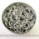 Shiny silvertoned aluminium, 1.6x8.2 mm, 100 saw-cut rings