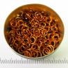 Glanzend oranje aluminium, 1,2x5,0 mm, 100 gezaagde ringen