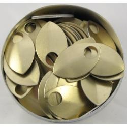 Goudkleurige aluminium schubben, klein