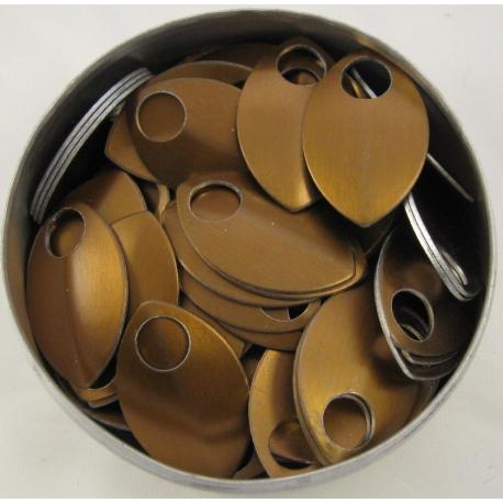 Bronskleurige aluminium schubben, klein