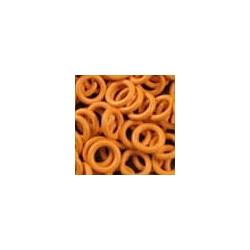 Orange rubber, 1.2x5.0 mm, 100 rings
