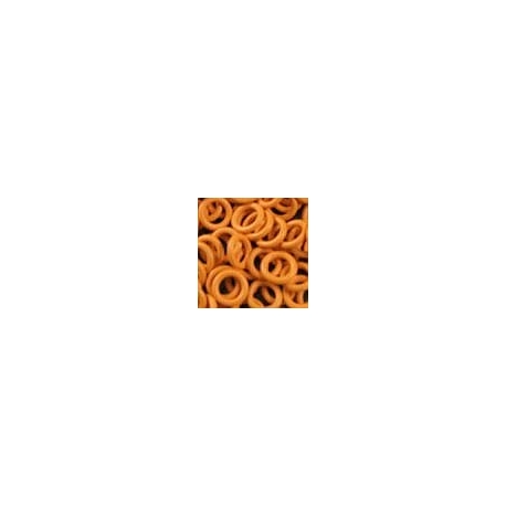 Oranje rubber, 1,2x5,0 mm, 100 ringen