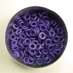 Purple rubber, 2.0x3.0 mm (7x3x2 mm) - 100 rings
