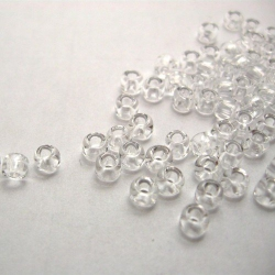 Transparent glass beads, 4 mm, 100 pc.