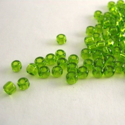 Green glass beads, 4 mm, 100 pc.