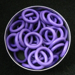 Purple rubber, 2.5x10.0 mm (15x10x2.5 mm) - 100 rings