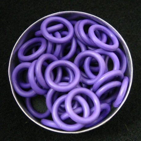 Purple rubber, 2.5x10.0 mm (15x10x2.5 mm) - 100 rings - The Queen Ring
