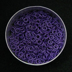 Purple rubber, 1.0x3.0 mm (5x3x1 mm) - 500 rings
