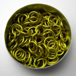 Yellow aluminium, 1.6x6.6 mm, 100 rings