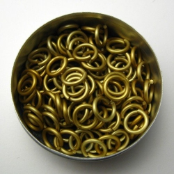 Goldtone aluminium, 1.6x6.6 mm, 100 rings