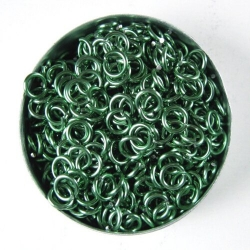 Shiny mint green aluminium, 1.2x4.1 mm, 500 saw-cut rings