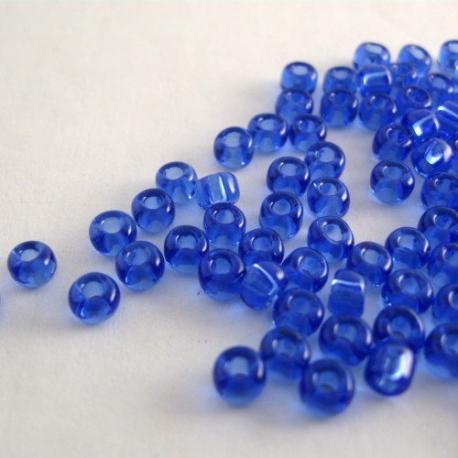 Blauwe glaskralen, 4 mm, 100 st.