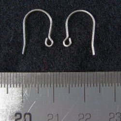 Titanium french hook style earwires, 1 pair