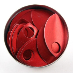 Red aluminium scales, large, 100 pc.