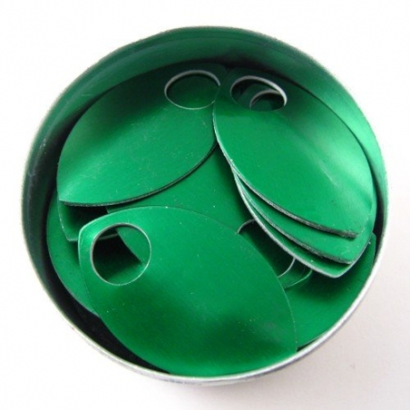 Groene aluminium schubben, groot