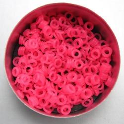 Felroze rubber, 1,0x3,0 mm (5x3x1 mm) - 500 stuks