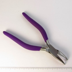 Bent nose pliers with long grip