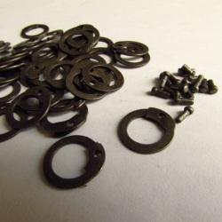 Nietringen 8mm, platte met ronde nieten, 1 kg