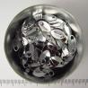 Zilverkleurig aluminium, mini schubben, 100 st.