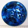 Blauw aluminium, mini schubben, 100 st.