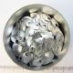 Mat zilverkleurig aluminium, mini schubben, 100 st.