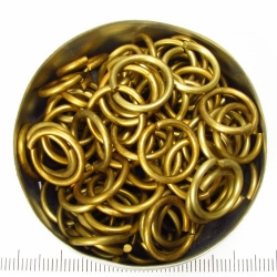 Goldtoned aluminium, 1.6x10.0 mm, 100 rings