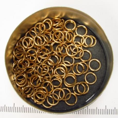Gezaagd messing, 1,0x5,0 mm, 100 ringen