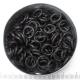 Zwart RVS 1,6x6,6 mm, 100 ringen