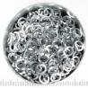Silvertoned aluminium, 1.2x5.0 mm, square wire, 100 rings