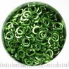 Lime green aluminium, 1.2x5.0 mm, square wire, 100 rings