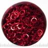 Rood aluminium, 1,2x5,0 mm, vierkant draad, 100 ringen