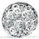Zilvertoned aluminium, 1.2x6.6 mm, square wire, 100 rings