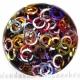 Kleurmix aluminium, 1,2x6,6 mm, vierkant draad, 100 ringen