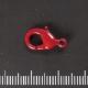 Rood gelakte karabijnhaak, 15 mm