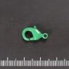 Groen gelakte karabijnhaak, 15 mm