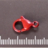 Stainless Steel lobster clasp, red lacquered