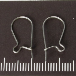 Earhooks with closure, titanium