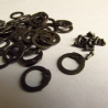 Set of riveting and punched rings,  8 mm, flat with round rivets, 1 kg