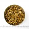 Glanzend goudkleurig aluminium, 1,6x6,6 mm, 100 gezaagde ringen