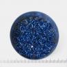 Glanzend diepblauw aluminium, 1,2x5,0 mm, 100 gezaagde ringen