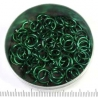 Shiny dark green aluminium 1.2x6.6 mm, 100 saw-cut rings