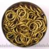 Mat goudkleurig aluminium, 1.6x8.2 mm, 100 gezaagde ringen