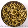 Matte goldtone aluminium, 1.6x8.2 mm, 100 saw-cut rings