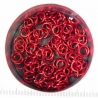 Shiny red aluminium, 1.2x5.0 mm, 100 saw-cut rings