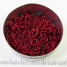 Mat rood aluminium, 1,2x5,0 mm, 100 gezaagde ringen