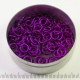 Matte violet aluminium, 1.2x5.0 mm, 100 saw-cut rings