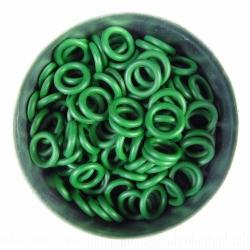 Groen rubber, 1.7x6.4 mm, 100 ringen