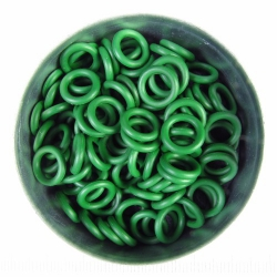 Groen rubber, 1.7x6.4 mm, 100 ringen