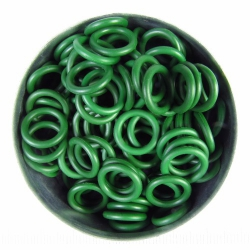 Green rubber, 1.7x7.9 mm, 100 rings