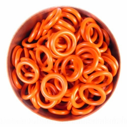 Orange rubber, 2.0x8.0 mm (12x8x2 mm) - 100 rings